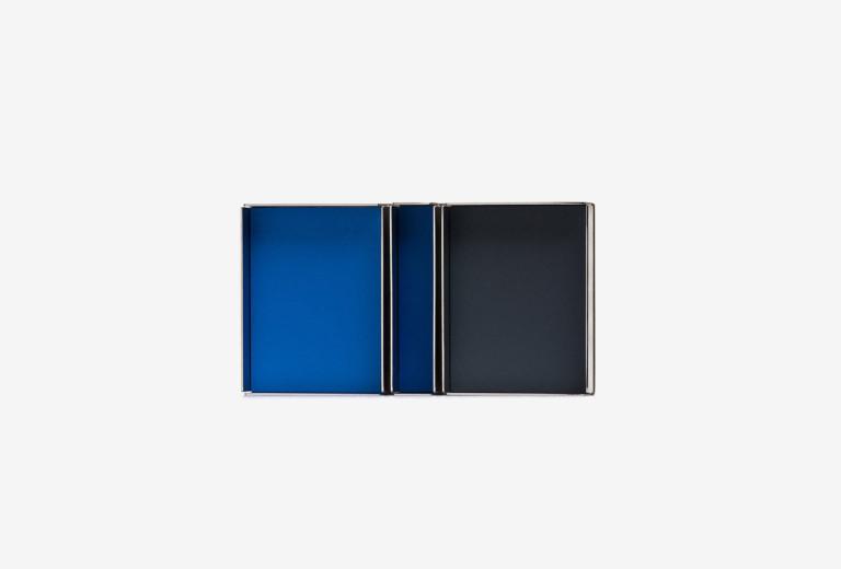 Miniatur <em>2a</em>. Edelstahl, Lack, 60 x 33 mm, 2012.